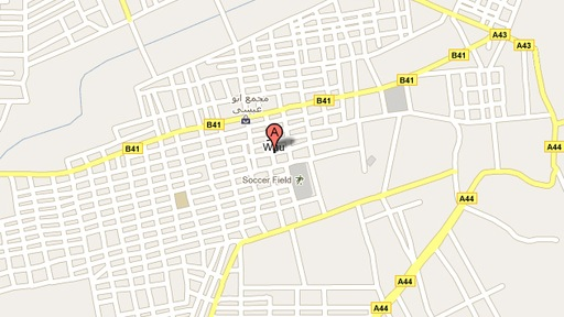 A Google map of the city of Wau in Southern Sudan shows nameless streets.
