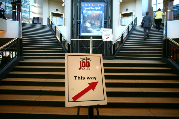 Job fair; Matthew Staver/Bloomberg via Getty Images