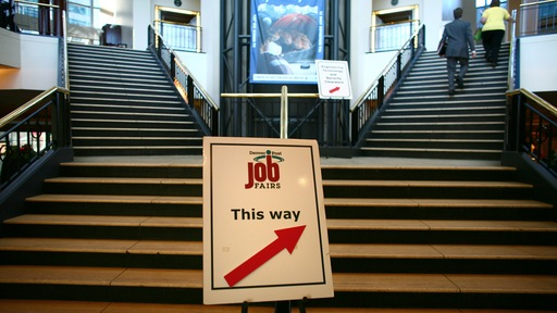Job fair in Denver. Photo by Matthew Staver/Bloomberg via Getty Images.