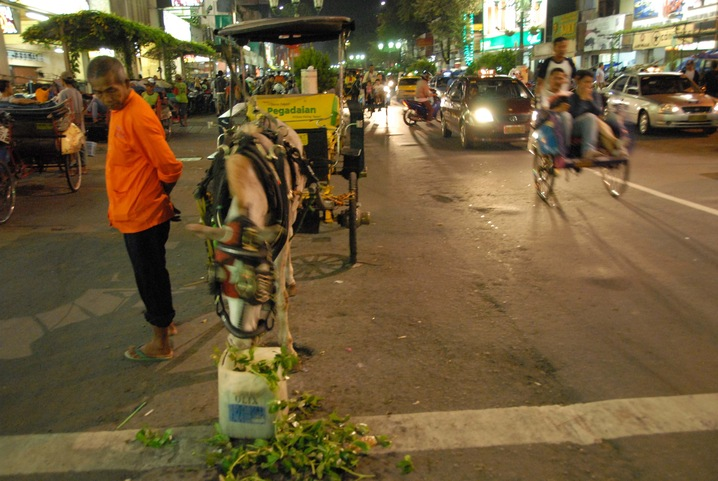 Rickshaws in Yogyakarta