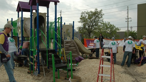 KaBOOM! team working at Jose Valdez Elementary School in Denver. Photos by Rebecca Jacobson