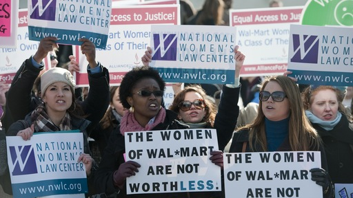 The National Women's Law Center holds a rally in front of the Supreme Court. Photo By Bill Clark