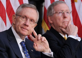 Sens. Harry Reid, D-Nev., and Mitch McConnell, R-Ky. Photo by Alex Wong/Getty Images