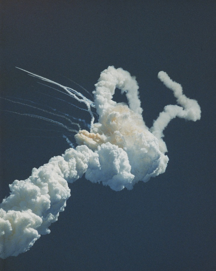Smoke Trails From Challenger