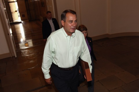 House Speaker John Boehner; photo by Win McNamee/Getty Images