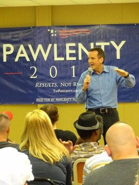 Former Minnesota Gov. Tim Pawlenty; NewsHour photo by Mary Jo Brooks