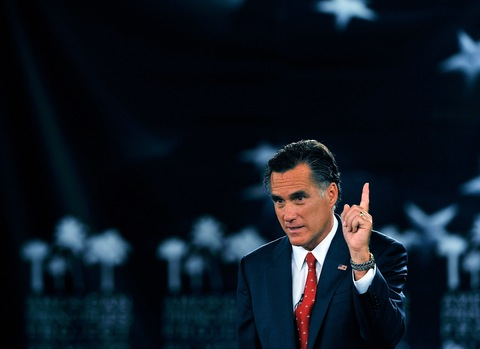 Mitt Romney; photo by Stephen Morton/Getty Images