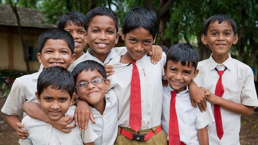 School boys in India. Photo by Flickr user David Ulfers. 