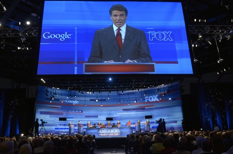 Rick Perry; photo by Phelan M. Ebenhack/Pool-Getty Images