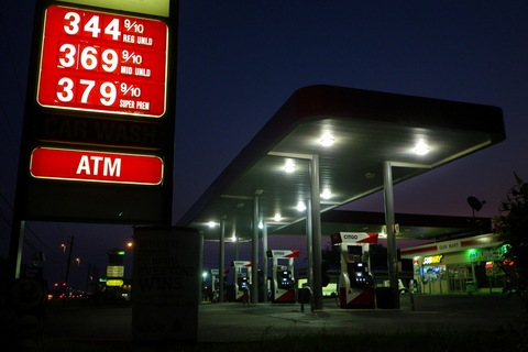 Gas station by flickr user dno1967b. 