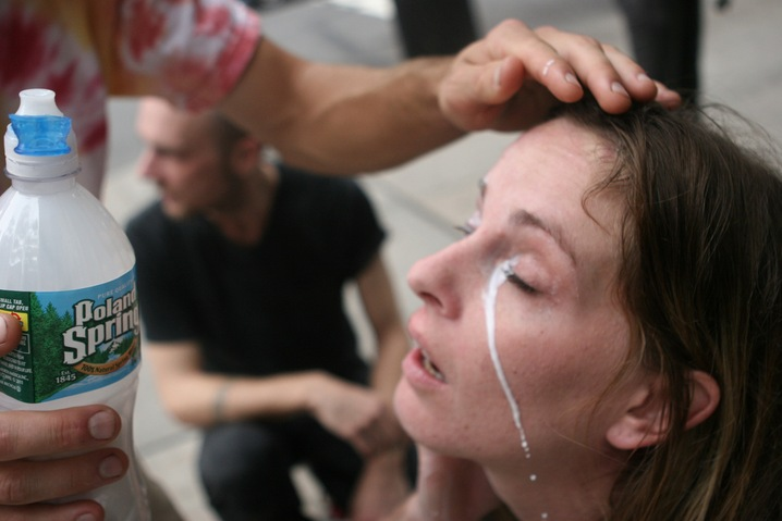 Protesters Pepper-Sprayed
