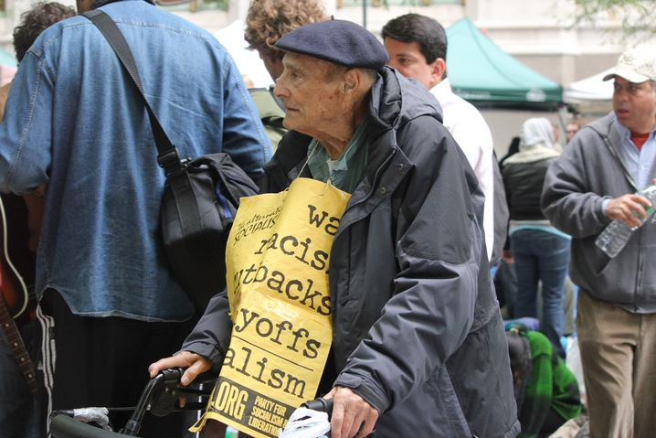 Elderly Protester