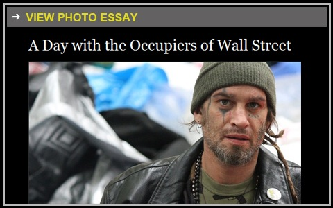 Promo for Occupy Wall Street photo essay