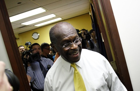 Herman Cain; photo by Joshua Lott/Getty Images