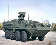 Stryker ICV front; WikiMedia Commons photo by http://www.sbct.army.mil/product_icv.html