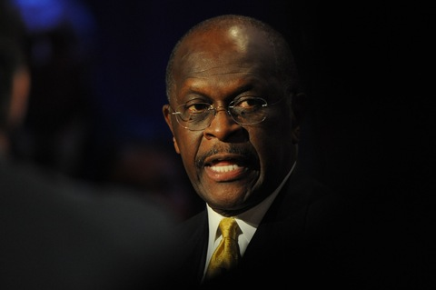 Herman Cain; photo by Toni Sandys/Pool/Bloomberg via Getty Images