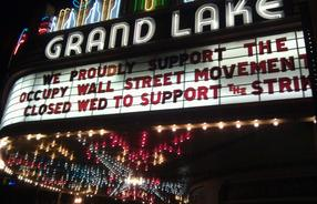Marquee of the Gand Lake movie theater in San Francisco, CA