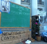 Part of the Occupy Cal protest on UC Berkeley's Sproul Plaza.
