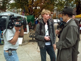 Paul Solman interviews an occupier at OccupyDC.