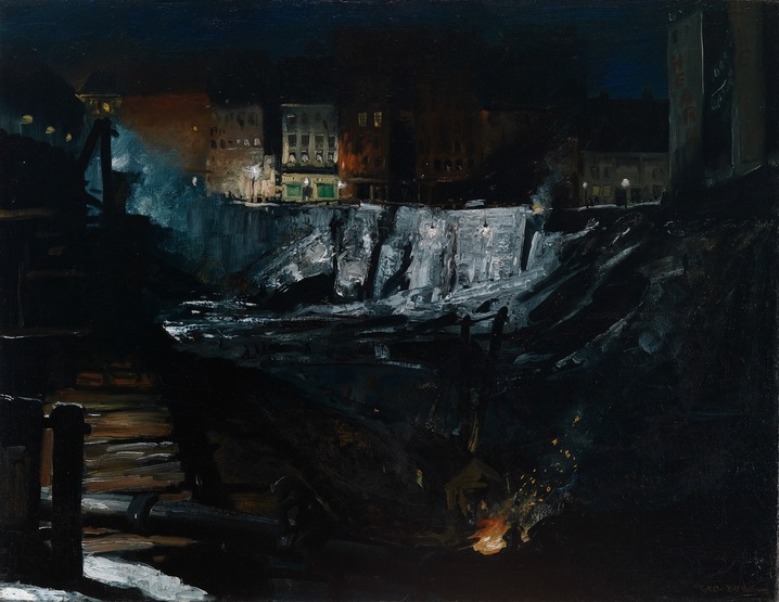 'Excavation at Night'