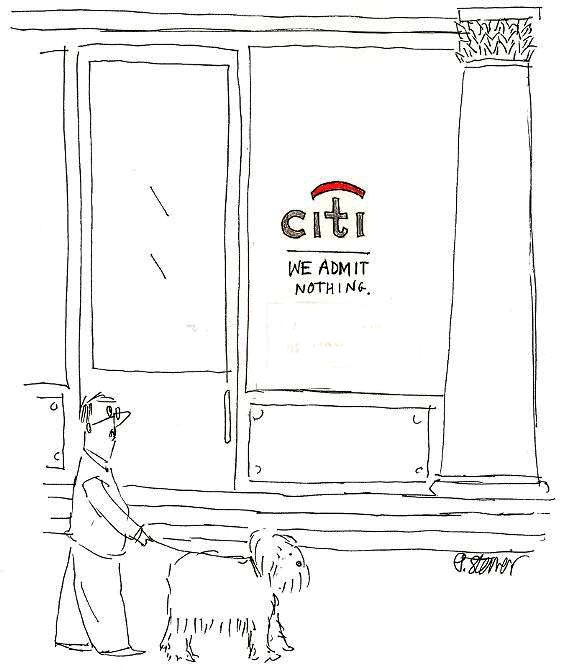 Cartoon of CITI Bank by Peter Steiner