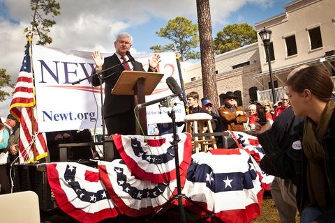 Newt Gingrich; photo by Richard Ellis/Getty Images
