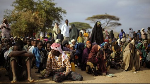 Refugees line up in one of northern Kenya's refugee camps. Photo by Tony Karumba/GlobalPost.