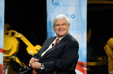 Newt Gingrich; hoto by Steve Pope/Getty Images
