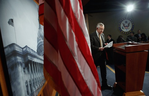Sen. Harry Reid; photo by Chip Somodevilla/Getty Images