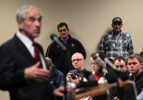 Ron Paul; photo by Justin Sullivan/Getty Images