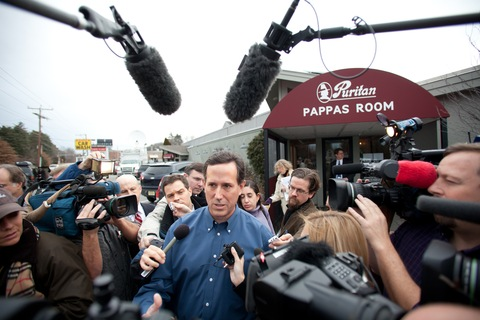 Rick Santorum; photo by Matthew Cavanaugh/Getty Images