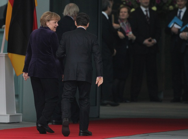 Merkel And Sarkozy Meet Over Euro