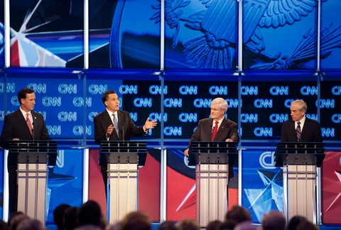 South Carolina debate; photo by Emmanuel Dunand/AFP/Getty Images