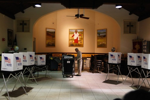 Florida voting; photo by Joe Raedle/Getty Images