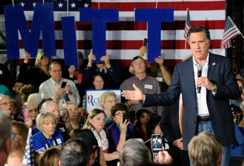 Mitt Romney; photo by Ethan Miller/Getty Images