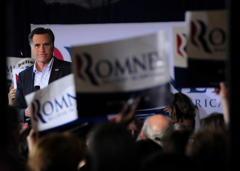 Mitt Romney; photo by Emmanuel Dunand/AFP/Getty Images
