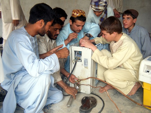 Afghans participating in job-training program in Helmand Province. Photo Courtesy of Mercy Corps