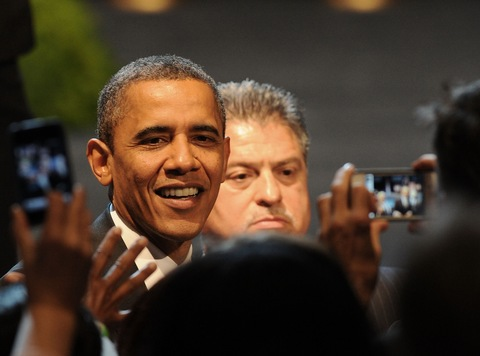 President Obama; photo by C. Flanigan/FilmMagic