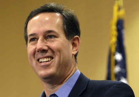 Rick Santorum; photo by Jay LaPrete/Getty Images