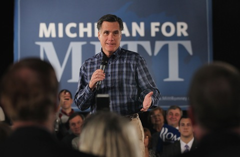 Mitt Romney; photo by Scott Olson/Getty Images
