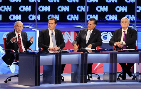 GOP debate; photo by  Justin Sullivan/Getty Images