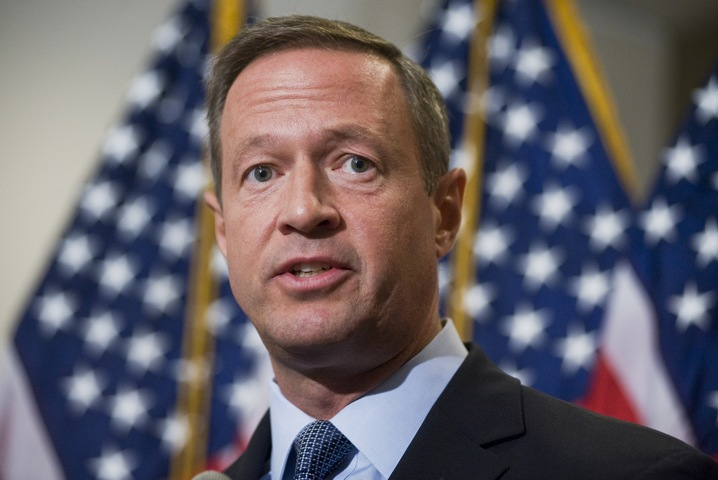 Gov. Martin O'Malley, D-Md., speaks at a news conference after a Democratic Whip meeting in the Capitol Visitor Center on the need to reach an agreement on debt reduction. Photo By Tom Williams/Roll Call