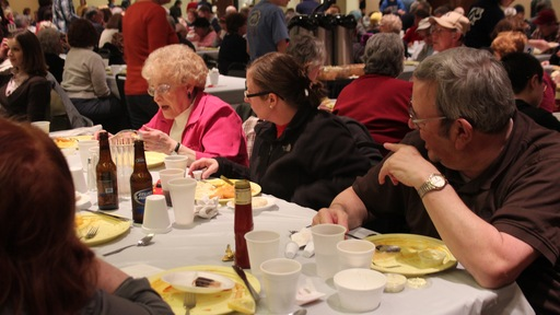St. Mary's in Cleveland hosts a Friday night fish fry. Photo by Terence Burlij/PBS NewsHour.