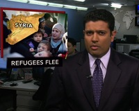 News Wrap: Refugees Flee Syria for Lebanon as Crackdown Extends