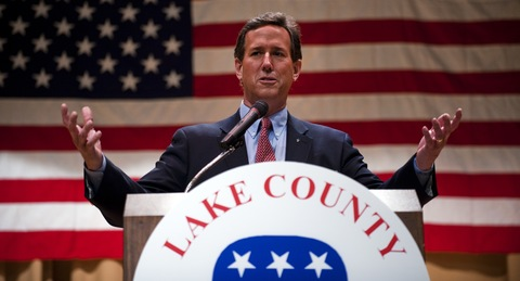 Rick Santorum; photo by Jim Watson/AFP/Getty Images