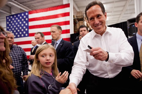 Rick Santorum; photo by Whitney Curtis/Getty Images