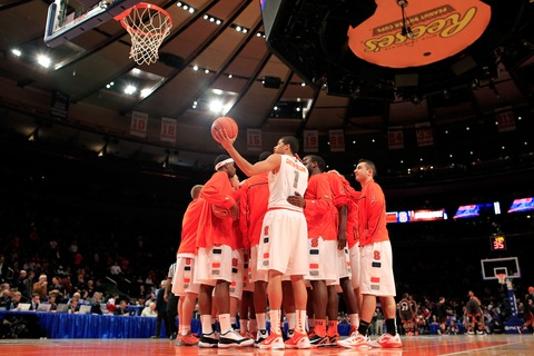 Syracuse men's basketball team; photo by Chris Trotman/Getty Images