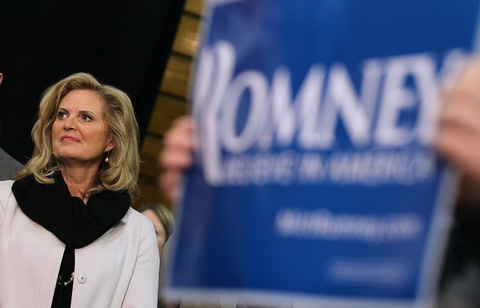 Ann Romney; photo by Justin Sullivan/Getty Images