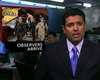 News Wrap: 6 U.N. Observers Arrive in Syria to Monitor Cease-Fire