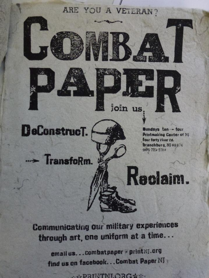 Combat Paper advertisement